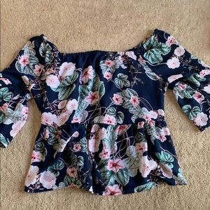 Flowy flower shirt